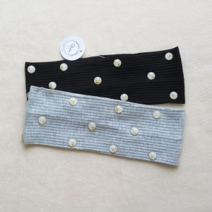 White and gold stones headband by Shaina style's hair accessories