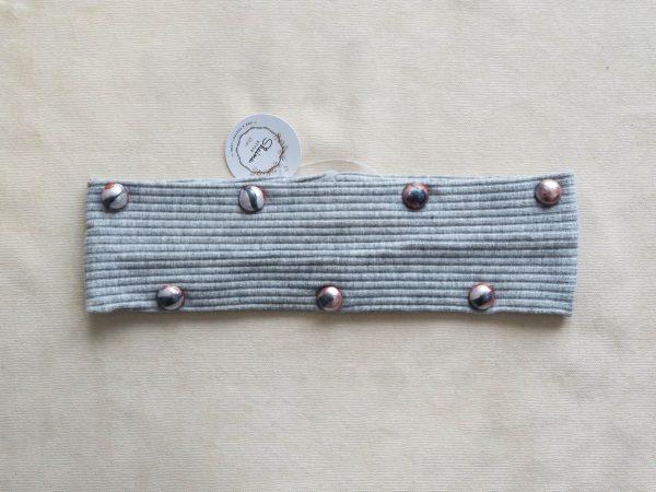 Gray stones headband by Shaina style's hair accessories